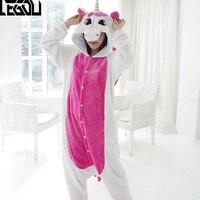 Adult Unisex Tenma Unicorn Fleece Pajamas Animal Cosplay Costume Onesie Sleepwear