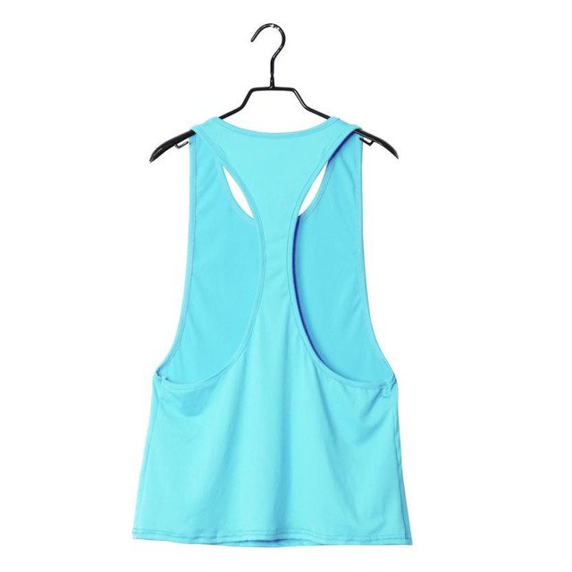 Summer Sexy Fitness Clothes Women Tank Tops Loose Workout Sleeveless Quick Dry Vest Singlet For Women T-shirt