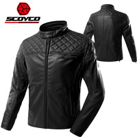 2017 Winter New SCOYCO motorcycle jacket windproof anti dropping casual motorbike suit jackets made of super fiber leather PU