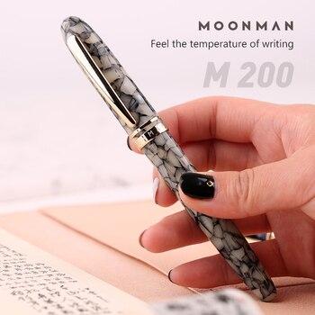 Новый Moonman M200 акриловая авторучка из целлюлоидной смолы, Германия, шмифт, тонкий наконечник, 0,5 мм, отличный модный офисный писательский пода...