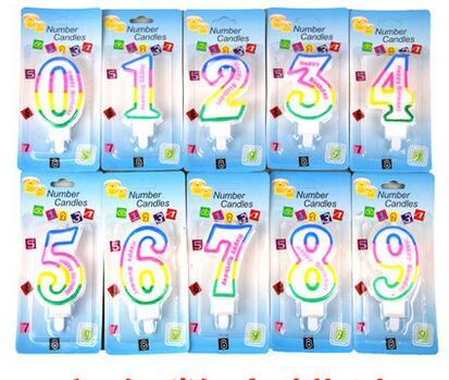 10 Pcs Kids Adult Colorful Birthday Candle Number 1 2 3 4 5 6 7 8 9 0 Cake Decoration Party