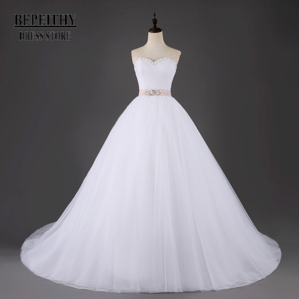 Online get cheap pretty wedding dresses for Cheap princess wedding dress