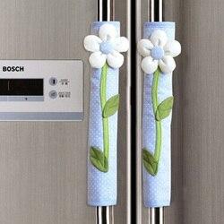 2 шт пасторальный цветок в горошек дверь/холодильник ручка Крышка Ручка дверцы холодильника перчатки домашний декор кухонные аксессуары