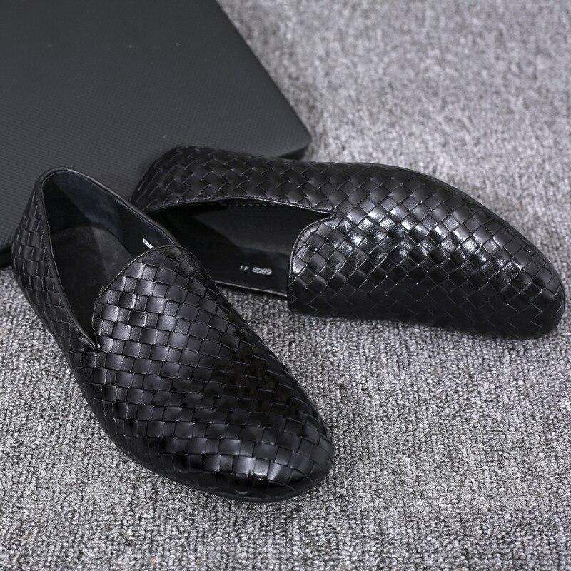Hombres Superior Blanco Zapatos Mycolen De Verano Ayakkabi Mocasines Negro Suaves Moda Conducción blanco Marca Cuero Calidad 8zYzxX4