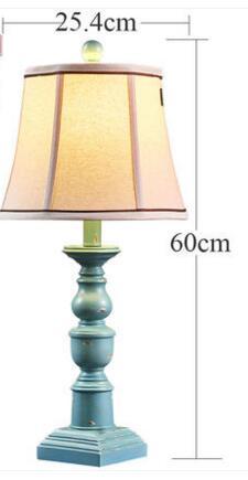 Американский настольная лампа. Спальня ночники. Свадебные номер декоративные настольные лампы