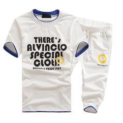 Для мужчин летние Спортивные костюмы Короткие рукава Футболки + Шорты для женщин большой Размеры Для мужчин повседневные комплекты одежды
