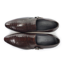 GRIMENTIN Italian fashion  genuine leather black brown wedding male shoes
