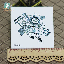 6X6cm Little Vintage Old School Style Kill My Hand Temporary Tattoo Sticker Body Art Water Transfer Fake Taty