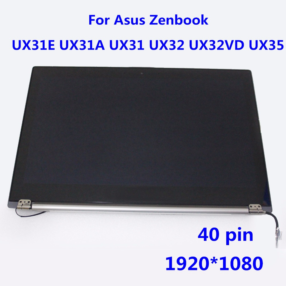 1920*1080 LCD Screen Display Assembly for Asus Zenbook UX31A-DH51 Ultrabook 40 Pin with Touch Digitizer N133HSG-F31 N133HSE-EA1 original 100%test for asus ux31a lcd screen assembly 40 pin 13 3 1920 1080 tested good with touch with free tool