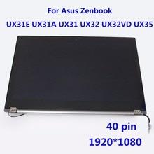 1920*1080 LCD Assemblée D'affichage de L'écran pour Asus Zenbook UX31A-DH51 Ultrabook 40 Broches avec Tactile Digitizer N133HSG-F31 N133HSE-EA1