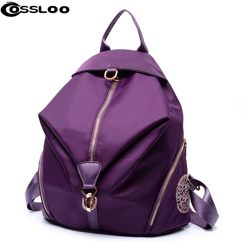 COSSLOO New 2018 famous backpack brands Women Backpack Waterproof Nylon Lady Female fashion Casual Travel Bag school bags bolsas