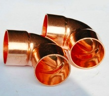 10PCS/LOT  Inner D:22mm Thickness:1mm National standard Copper Welding Elbow Pipe 90 Degrees