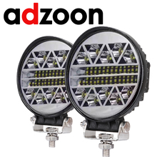цена на ADZOON 126w  4inch Car  Work Light 10 30V 4WD 12v for Off Road Truck Bus Boat Fog Light Car Light Assembly