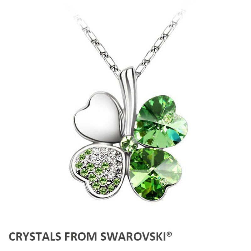 2016 summer style vente chaude classique trèfle collier avec Cristaux de Swarovski cadeau De Noël bijoux