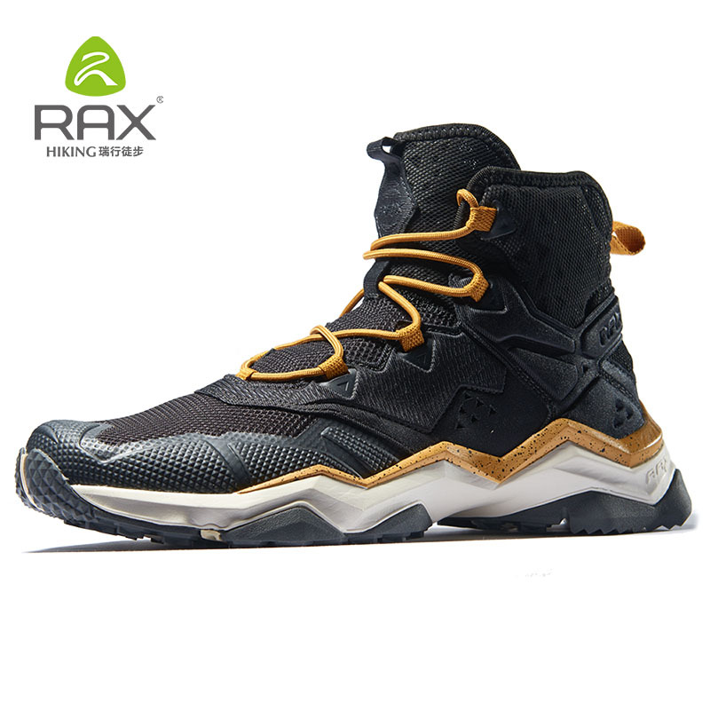 RAX Men Winter Outdoor Sports Shoes Hiking Boot Warm Mountain Trekking Anti-slip Shoes Outdoor Comfortable Shoes with Fur Lined mulinsen brand new winter men sports hiking shoes cowhide inside keep warm sport shoes wear non slip outdoor sneaker 250666