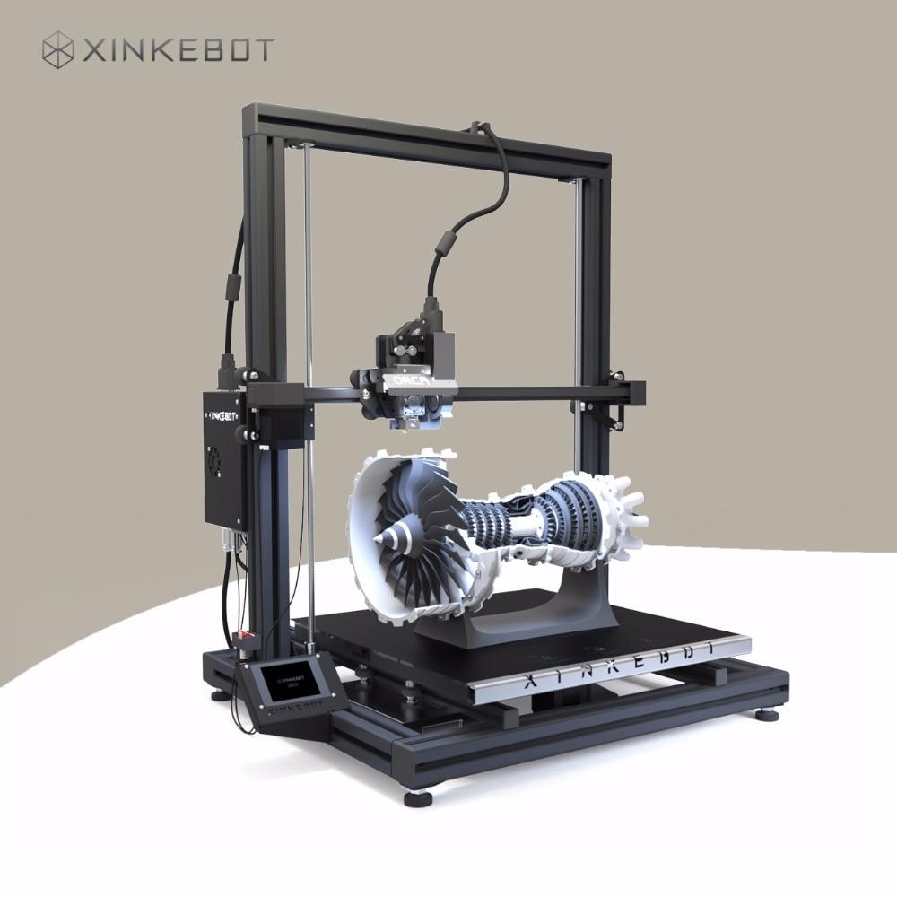 DIY FDM 3D Printer XINKEBOT Orca2 Cygnus 400*400*500mm with Quality Aluminum Heater for Delta стоимость