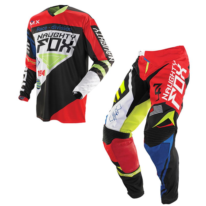 NAUGHTY FOX 360 MX Motocross Racing Combos 180 360 Jersey Off-Road Protective Gear Motorcycle Riding Pants Dirt Bike Moto Sets