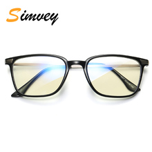 Simvey Fashion Vintage Blue Light Blocking Glasses Unbreakable TR90 Computer Gaming Radiation Protection Glasses for Wmen Men