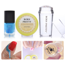 BORN PRETTY Nail Stamping Tool Set Nail Polish Remover Pads Clear Stamper 6ml Peel Off Liquid Tape Stamping Nail Art Manicure