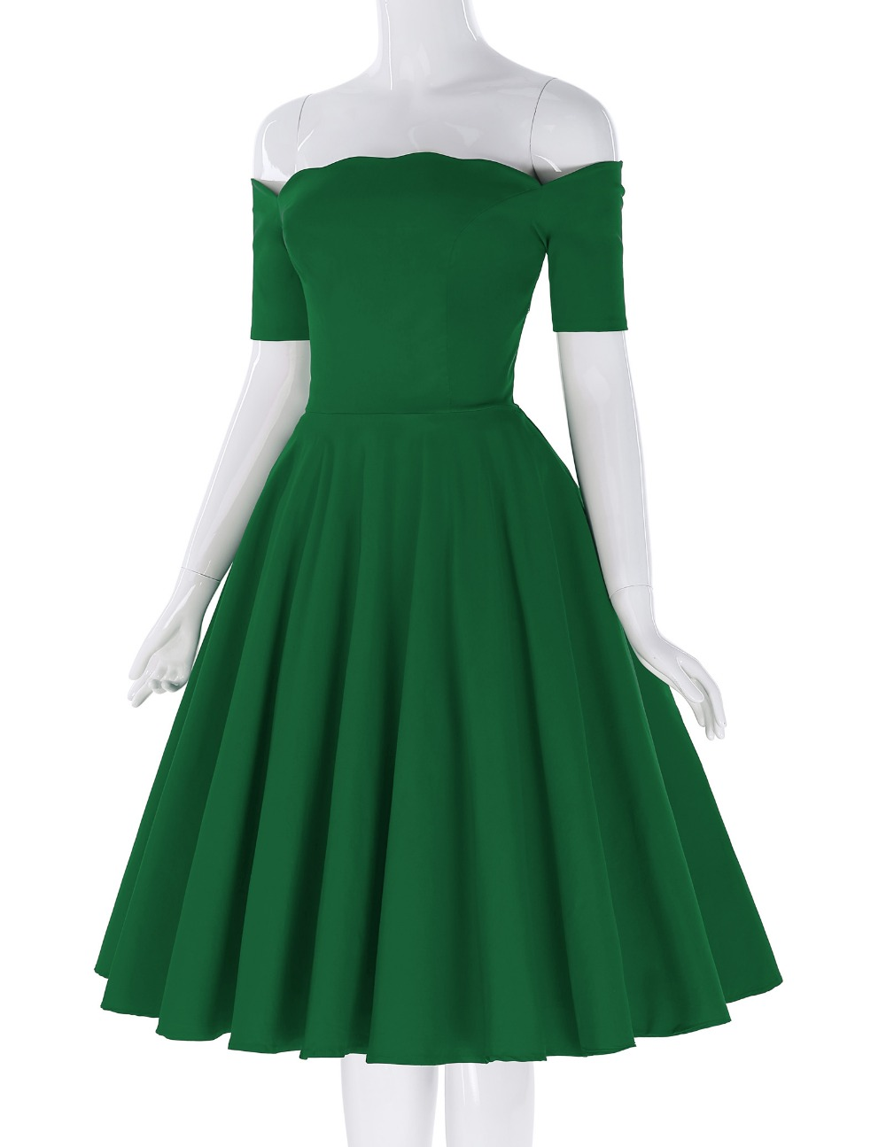 Belle Poque 17 Women Dress Robe Vintage Off Shoulder Black Summer Dress Jurken 1950s 60s Retro Rockabilly Swing Party Dresses 22