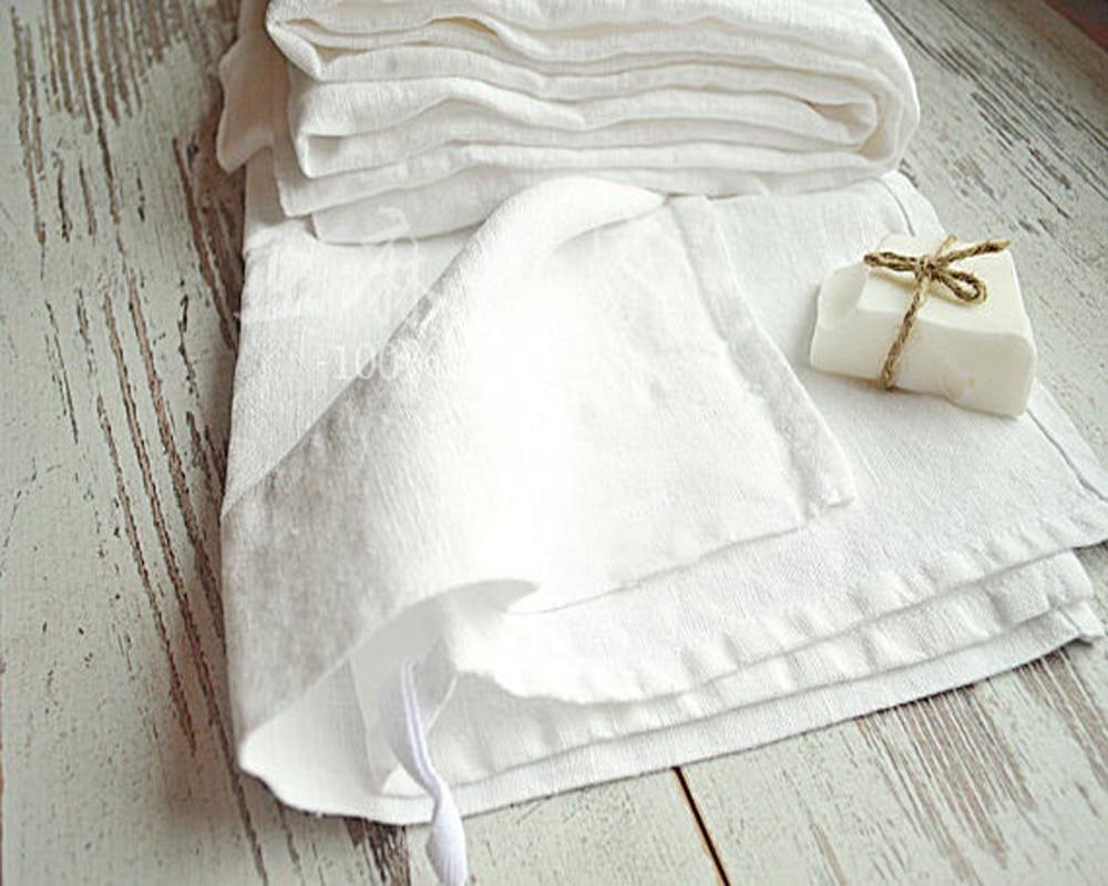 100 Real White Linen Napkins Wedding Table Napkin Natural