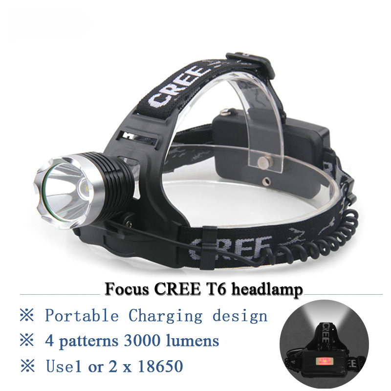 new 3000 lumens cree headl cree xm l t6 l le frontale for cing outdoor light