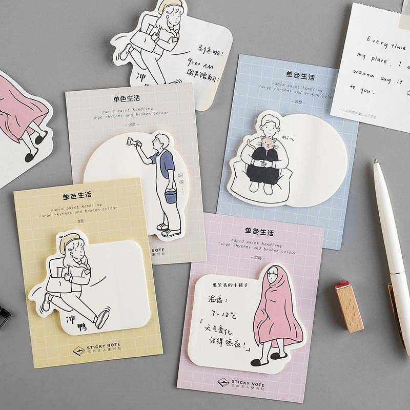 Hot Sale Simple Life Self Adhesive Memo Pad Sticky Notes 30 Sheets School Supplies Stationery Post Note Paper Stickers Planner