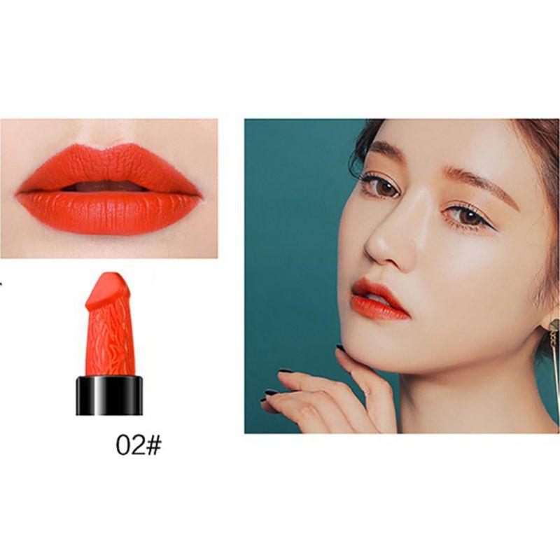 Hot Sale  LipsDick Mushroom Pecker Lipstick Penis Willy Shaped Lip Hens Night Party 8 Colors
