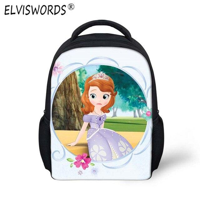 f742d3485 ELVISWORDS 3d Princesa Sofia bolsa Niños Mochila Satchel Set Girls Bolsas  Escuela Mochilas Niños Impermeable Pequeño