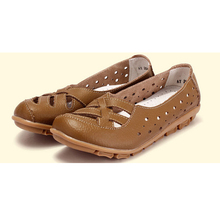 2015 explosion models mom leather shoes  casual and comfortable flat shoes ladies leather Peas shoes zapatos mujer h140