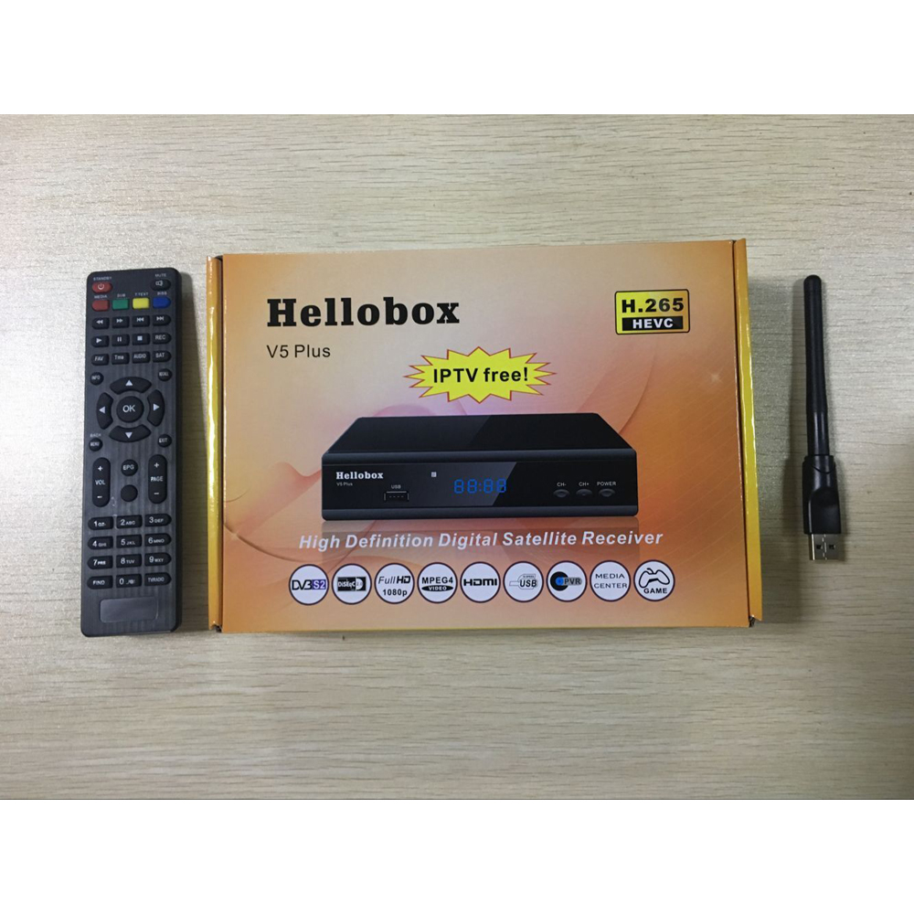 HELLOBOX V5PLUS set top box watch asiasat 7 SAB HD channels-in Radio