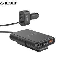 ORICO UCP 5 Porty Ładowarka Samochodowa Szybkie Ładowanie 3.0 Telefon komórkowy Samochód-ładowarka Adapter Do Telefonu