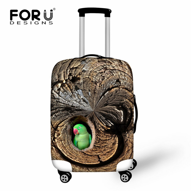 FORUDESIGNS Animal Luggage Protective Cover Bird Squirrel Luggage Case Cover for 18-30 inch Trolley Suitcase Elastic Rain Cover