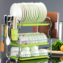 Three-storey Kitchen Shelf, Two-storey Drainage Bowl And Dish Rack, Chopsticks Ar