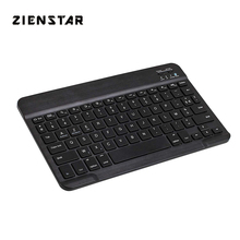 "Zienstar Slim 10"" AZERTY French Wireless Bluetooth Keyboard for IPAD,MACBOOK,LAPTOP, Computer PC and Tablet,Rechargeable Battery"