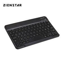 """Zienstar ince 10 """"AZERTY fransız kablosuz Bluetooth klavye için IPAD,MACBOOK,LAPTOP, bilgisayar PC ve Tablet, şarj edilebilir pil"""