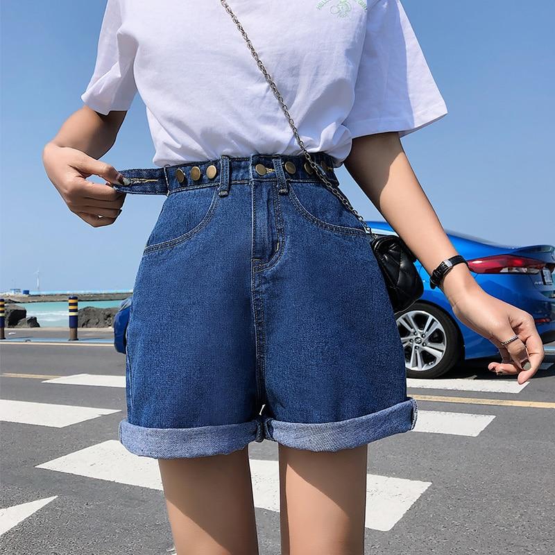 GUUZYUVIZ Casual 5XL Plus Size Denim Shorts Jeans Woman Jean Shorts Women Summer High Waist Short Feminino Spodenki Damskie