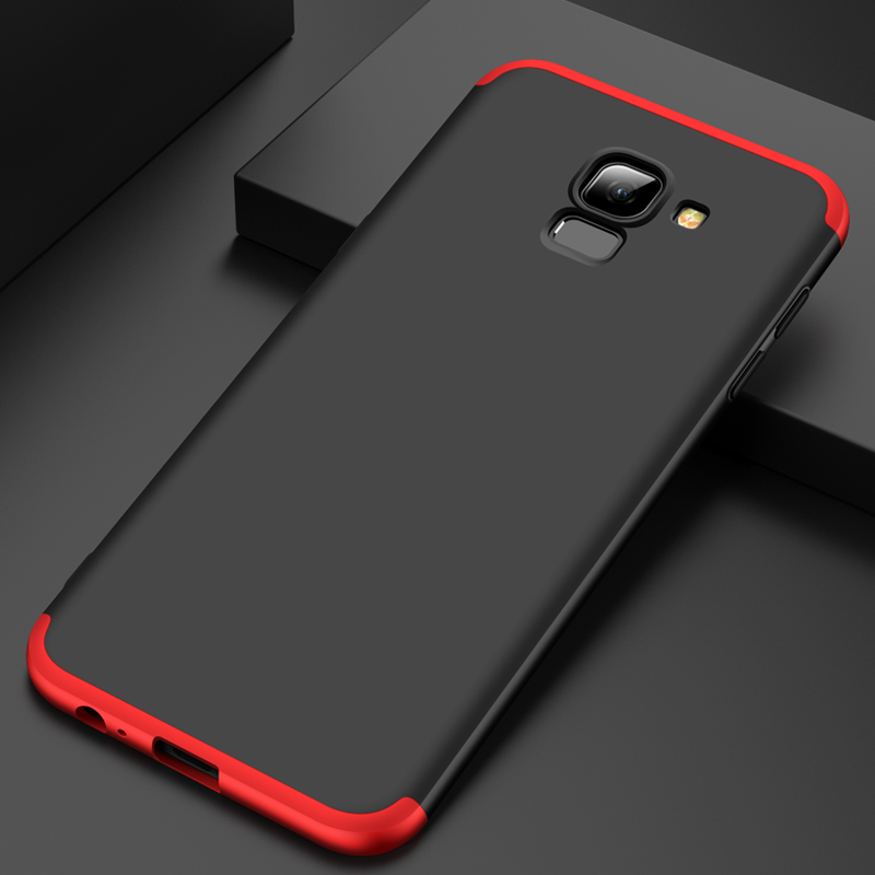 For Samsung Galaxy J6 2018 Case 360 Degree Full Body Cover Case For