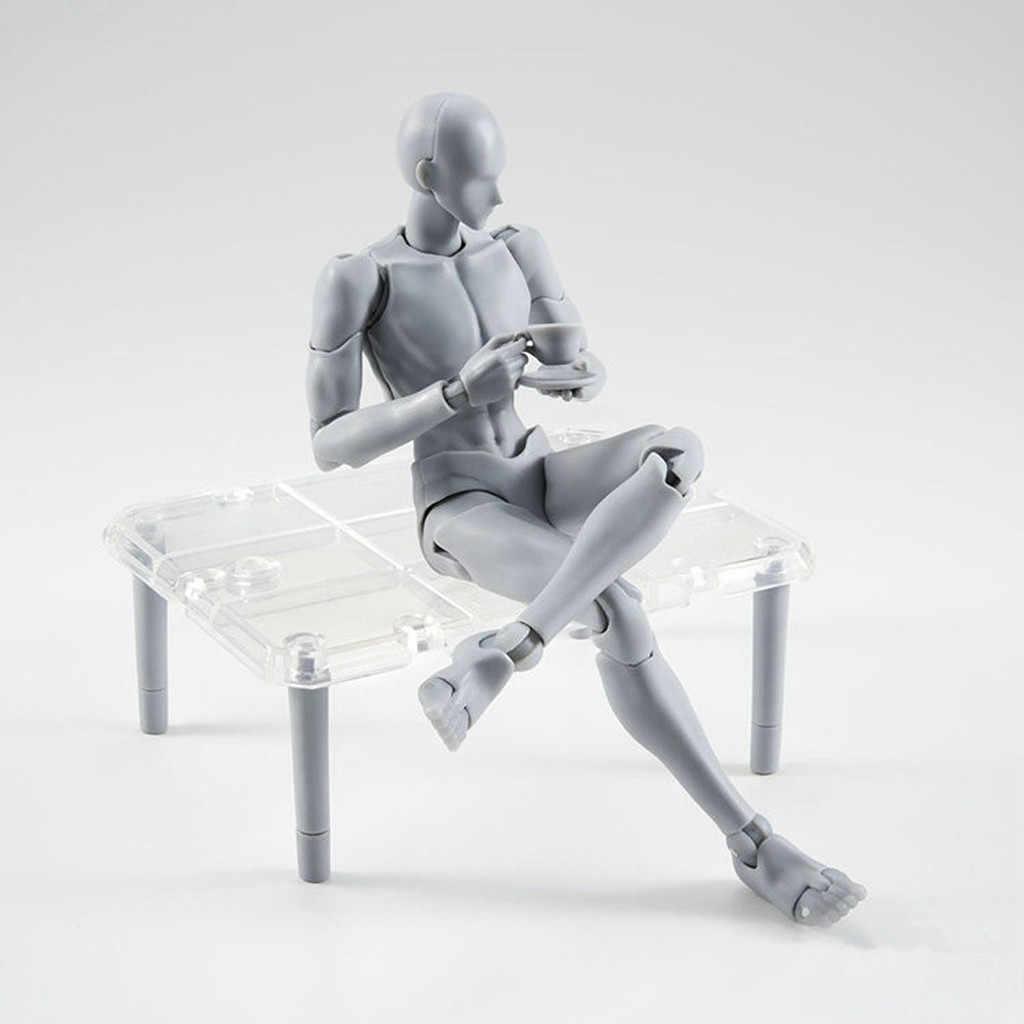 ภาพวาดตัวเลขสำหรับศิลปินรูปหุ่นมนุษย์ Man Woman ชุดสีเทาสี PVC การกระทำของเล่นสะสม