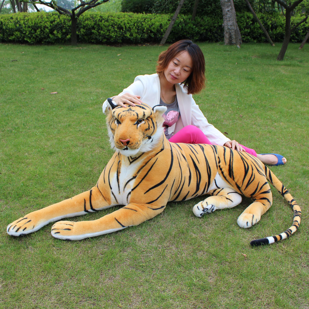 Jesonn Giant Realistic Plush Toys Tiger Big Lifelike Stuffed Animals