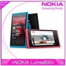 "D'origine téléphone lumia 800 Windows Phone 3.7 ""nokia Lumia 800 Mobile Téléphone ROM 16 GB Caméra 8.0MP Wifi GPS Bluetooth 3G téléphone portable"