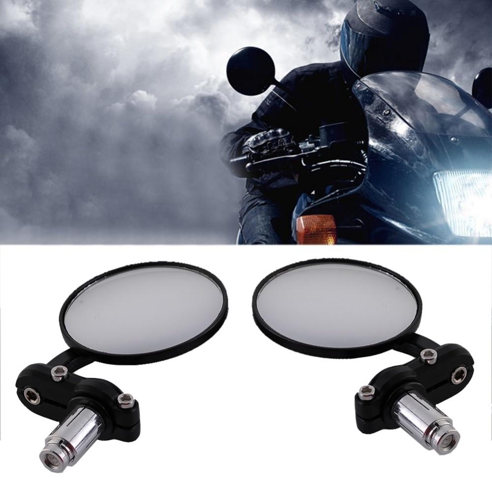 universal Black Motorcycle rearview Mirrors 7/8