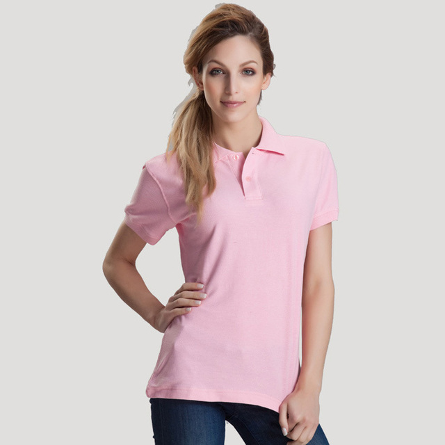 16 color Cotton casual polo shirt women camisetas femininas Tee shirts Tops womens camisa polo feminina free shipping