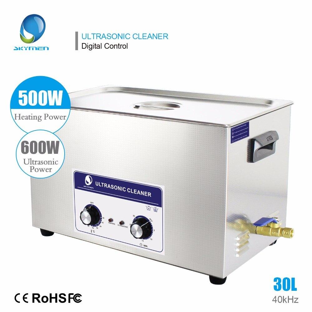 Limpiador ultrasónico DE LOS portamaletas 30L Industrial de acero inoxidable piezas de motor Auto climatizada con Control de tiempo SUS
