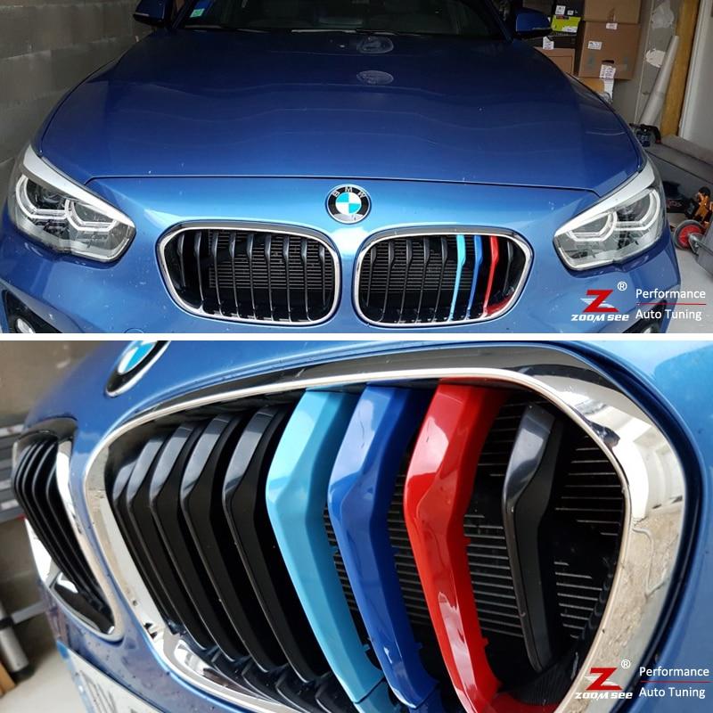 7 Rejillas un Lado Maiqiken 3D Coche Rejillas Frontales Cover Hebilla para X6 E71//E72 2008-2013 ABS 3 Colores