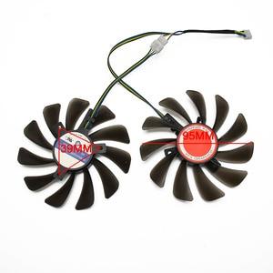 Image 3 - 2 pz/lotto 95 MILLIMETRI FDC10U12S9 C CF1010U12S dispositivo di Raffreddamento del Ventilatore Sostituire Per XFX AMD Radeon RX 580 590 RX580 RX590 Scheda grafica ventola di raffreddamento
