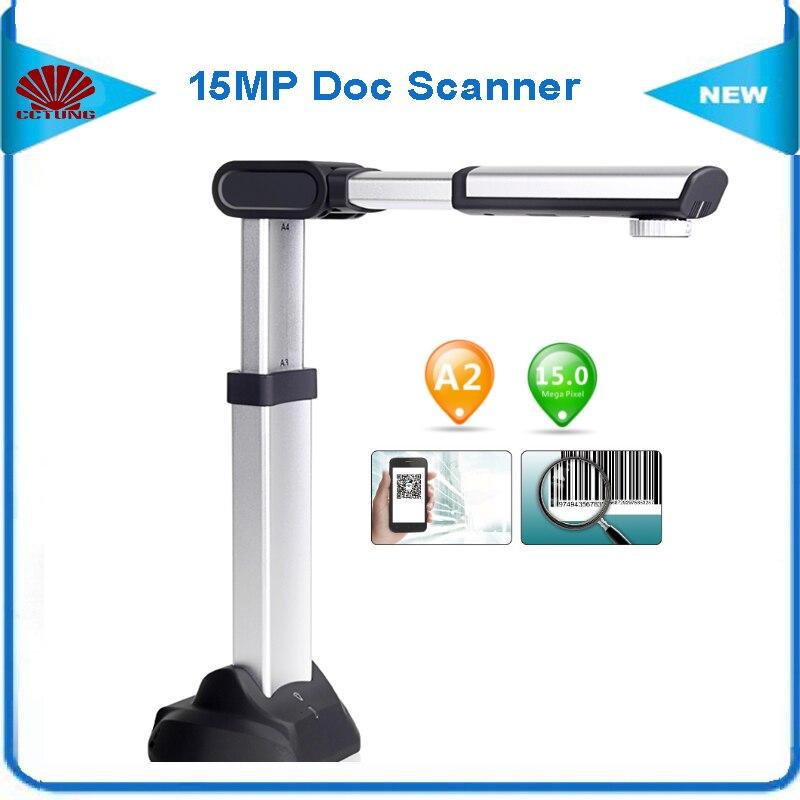 S1500A2U3 Haute Vitesse Portable Document Scanner avec 15MP HD Caméra A2 Balayage Taille de 180 langues le Soutien OCR USB3.0 Haute Vitesse