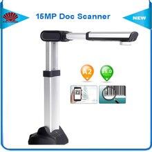 S1500A2U3 Alta Velocidad Portátil Escáner de Documentos con 15MP Cámara y A2 Tamaño de Escaneo y 180 idiomas OCR Soporte USB $ number de Alta velocidad