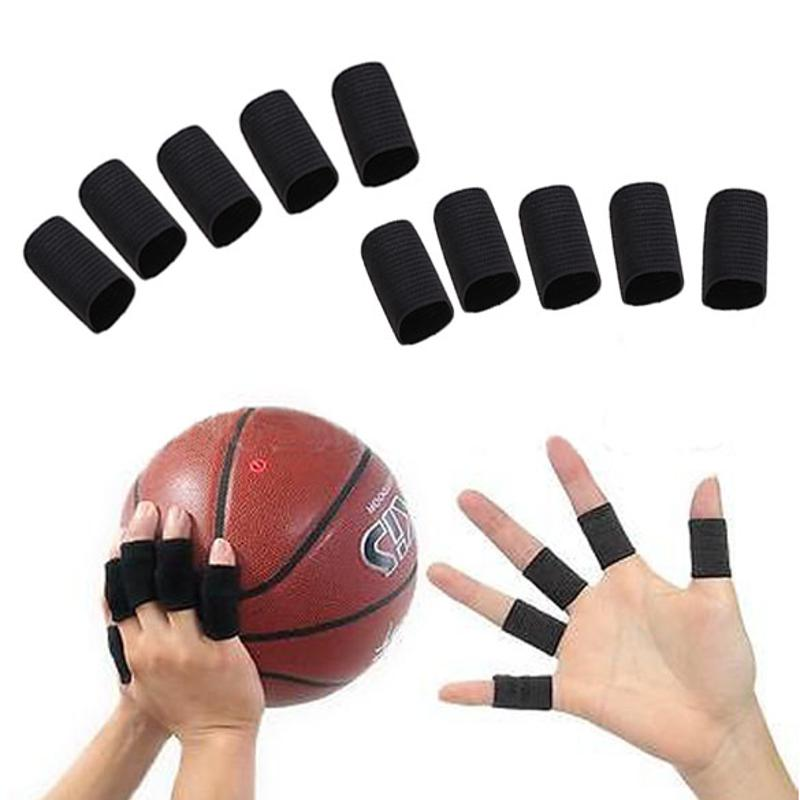 10pcs Stretchy Protective Gear Finger Guard Bands Bandage Support Wraps Arthritis Aid Straight Finger Stall Sleeve Protector