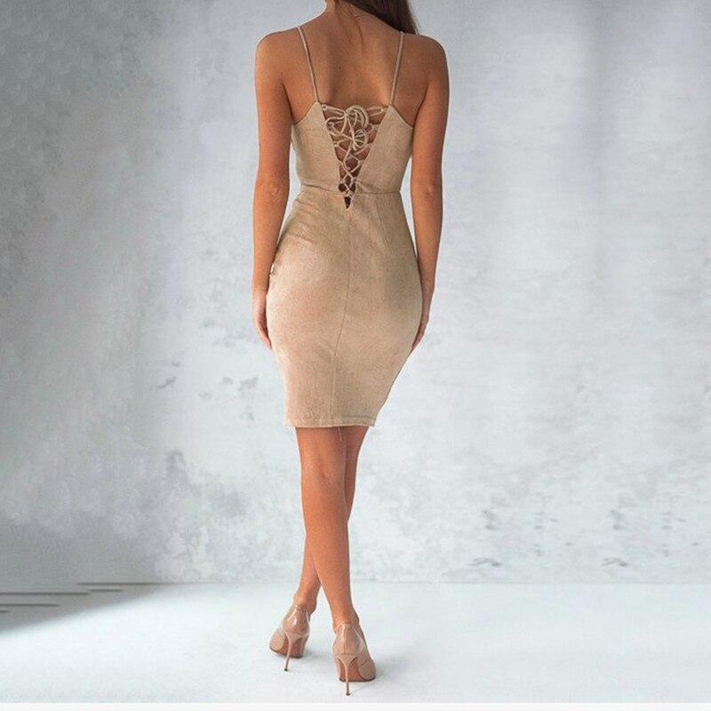 Fashion Off Shoulder Women Dress Sexy Spaghetti Strap Sheath Bodycon Dress Strapless Back Lace-up Mini Female Vestidos KH841397